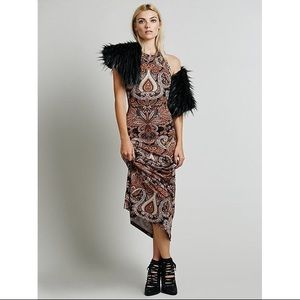 NWT Novella Royale Maxi Dress S XS Stone Fox
